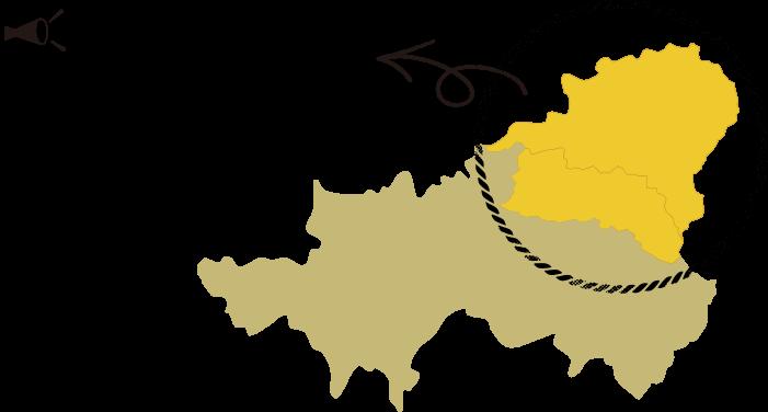 エリアは高山市域のうち、飛騨山脈に接する奥飛騨温泉郷、上宝町、丹生川町の3地域