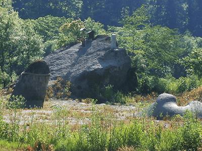 夫婦岩の景色