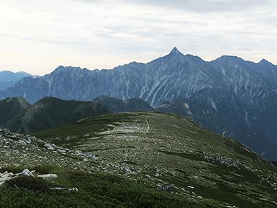 双六岳の景色