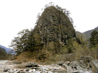 杖石の景色
