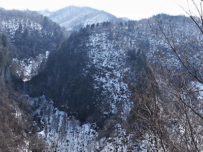 蓑谷三滝の景色