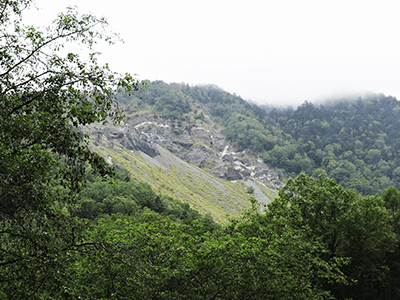 外ヶ谷深層崩壊の景色