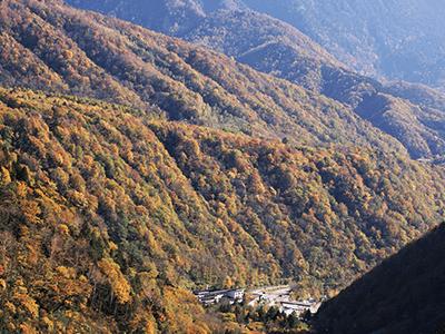 鍋平の景色