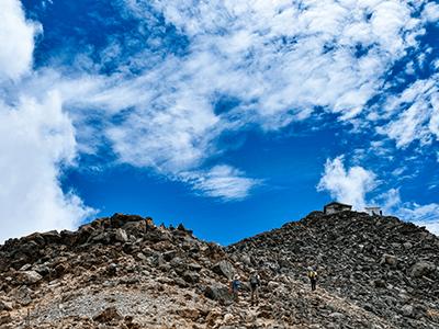 乗鞍岳山頂の景色