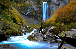 平湯大滝風景画像