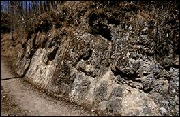横尾れき岩の風景