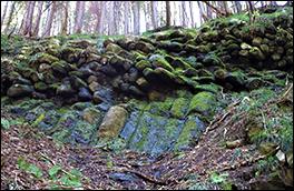 材木岩の風景