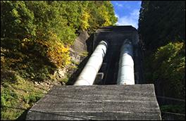 見座水力発電所の風景