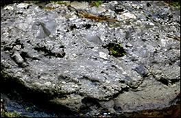 堂殿れき岩の風景