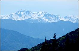 平湯峠の風景