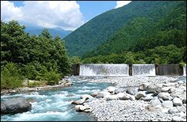 蒲田結晶片岩のれき風景画像