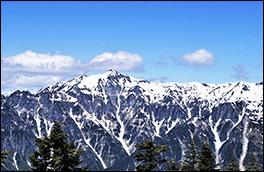 笠ヶ岳展望の景色