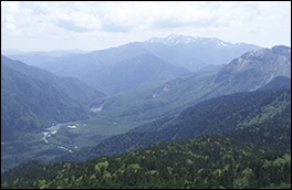 大正池展望の景色